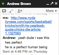 Social scientist and Mensa member Andrew Brown's thoughts on the yearbook photo.